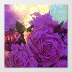 purple roses and light Canvas Print