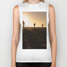 Photographers At Sunset Biker Tank