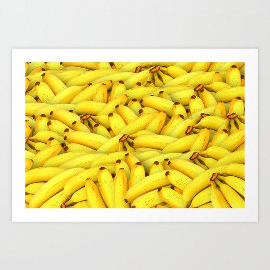 Yellow Bananas pattern Art Print