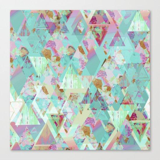 Candy Geometric  Canvas Print