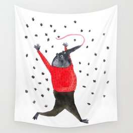 He Dreams of Ants Wall Tapestry