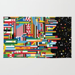 Flagscapes: World Cityscape Rug