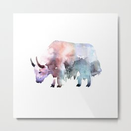 Wild yak / Abstract animal portrait. Metal Print