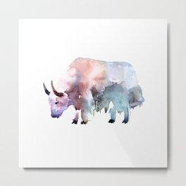 Wild yak / Abstract animal portrait. Metal Print