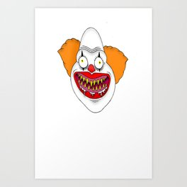 Cannibal Clown T-shirt Art Print