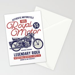 Authentic Motorcycle 1955 Royal Motor Stationery Cards