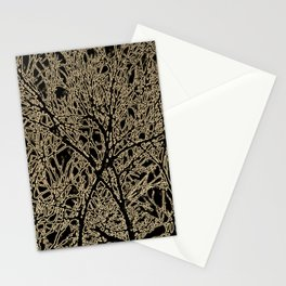 Tangled Tree Branches in Black and Sepia Stationery Cards