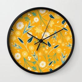 Flowers & Leaves Wall Clock