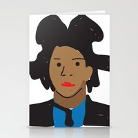 basquiat Stationery Cards featuring Basquiat by John Sailor