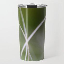 Macro of A Green Palm Tree Leaf  Fond Travel Mug