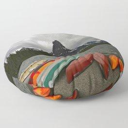 Two Medicine Lake With Sinopah Mountain Floor Pillow
