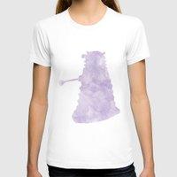 dalek T-shirts featuring watercolour dalek by Dan Lebrun