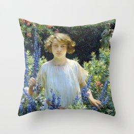 Charles Courtney Curran Betty Gallowhur Throw Pillow