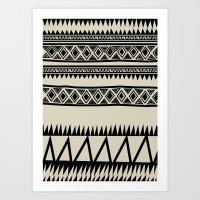 zebra Art Prints featuring MALOU ZEBRA by Aztec