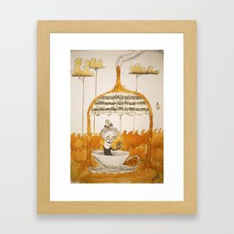 Sailing in coffee Framed Art Print