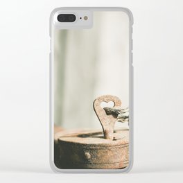 Locked Rust Clear iPhone Case