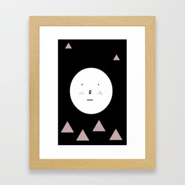 Boy with triangles Framed Art Print