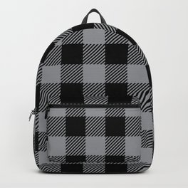 Buffalo Plaid - Black and Grey Backpack