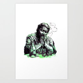 Bud Spencer, the Cigar and the Bottle Art Print