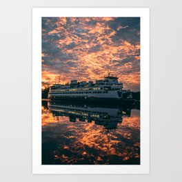 Friday Harbor Ferry Art Print