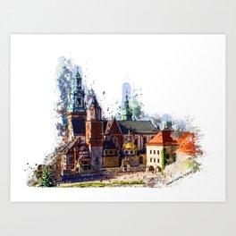 Cracow Wawel Castel Art Print