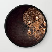 chandelier Wall Clocks featuring chandelier by shannonblue