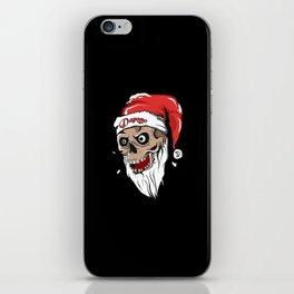 Skull Santa iPhone Skin
