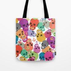 Skulls And Anchors Tote Bag