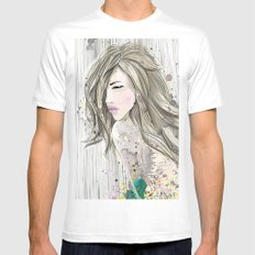 women_colors MEDIUM White Mens Fitted Tee