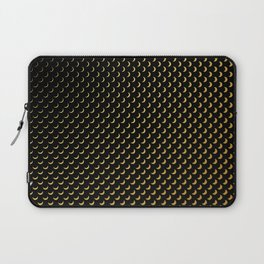 Gold half moons on black Laptop Sleeve