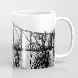 Foggy Morning Bridge Coffee Mug