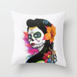 Calaca Throw Pillow