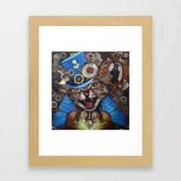 Miss. Steampunk Pussy Framed Art Print