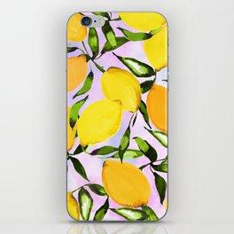 Citrus lemons iPhone Skin
