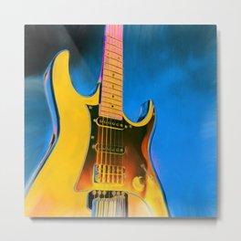 Guitar Painting, Pop Art Rock and Roll Metal Print
