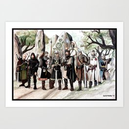 Knights of Castleton, The Early Days Art Print