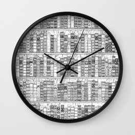 The Library II Wall Clock