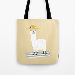 Llama goes to the Beach Tote Bag