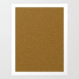 Golden Brown Saturated Pixel Dust Art Print