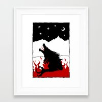 werewolf Framed Art Prints featuring Werewolf by FROM THE ABYSS TO THE STARS