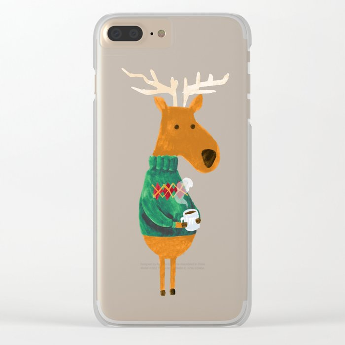 Hot Coffee Clear iPhone Case