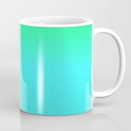 Cyan Green Purple Red Blue Black ombre rows and column texture Coffee Mug