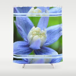 SOFT BLUE #1 - Clematis Alpina Shower Curtain