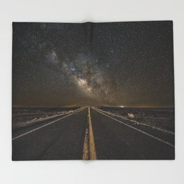 Go Beyond - Road Leads Into Milky Way Galaxy Throw Blanket