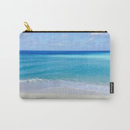 Turquoise and Sand Carry-All Pouch