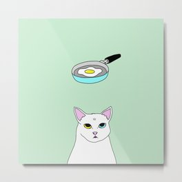 Fat D. Loves Fried Egg Metal Print