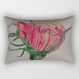 rose, botanical, botanical art, pink, pink rose, Yokohama Rectangular Pillow