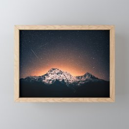Mountain Space Framed Mini Art Print