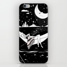 Reading in the Moonlight iPhone Skin