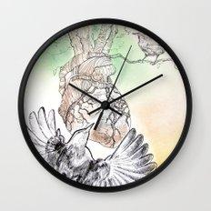 Green Bough, Singing Bird Wall Clock